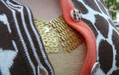 03-21-2012 - Giraffe print - placket and sequins